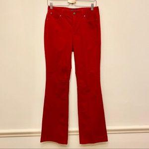🍁TALBOTS Curvy Bootcut Red Corduroy Pants Sz 6 🍁